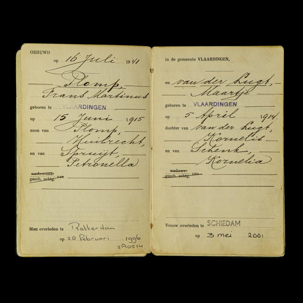 Trouwboekje 1941