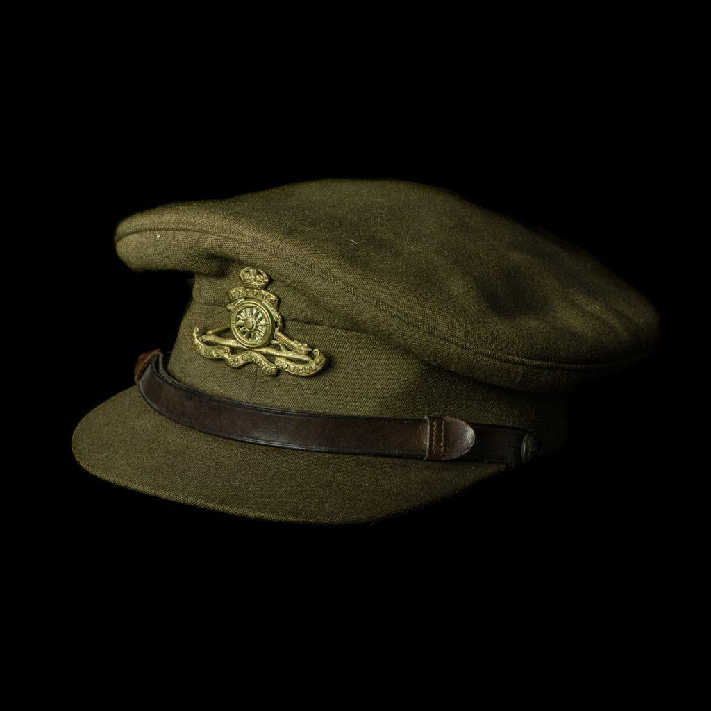 Bitish Royal Artillery Officers Service Visor Hat