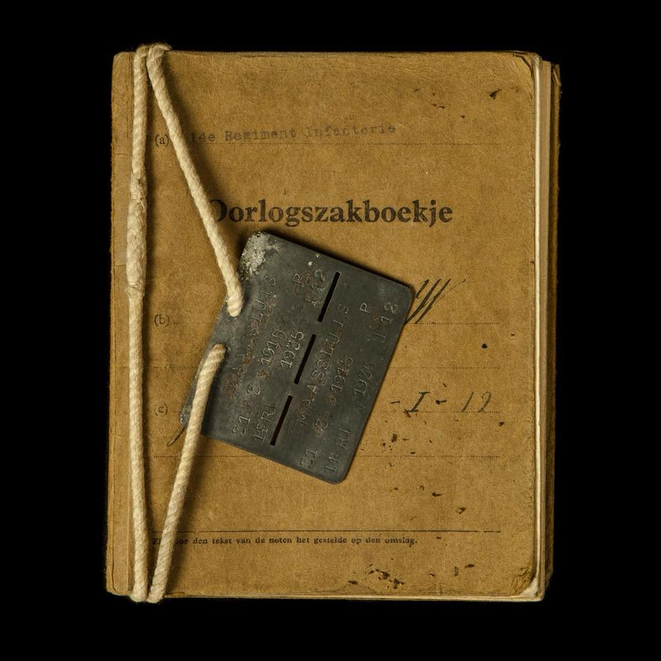 Oorlogszakboekje 14e Regiment Infanterie dhr. Hokke