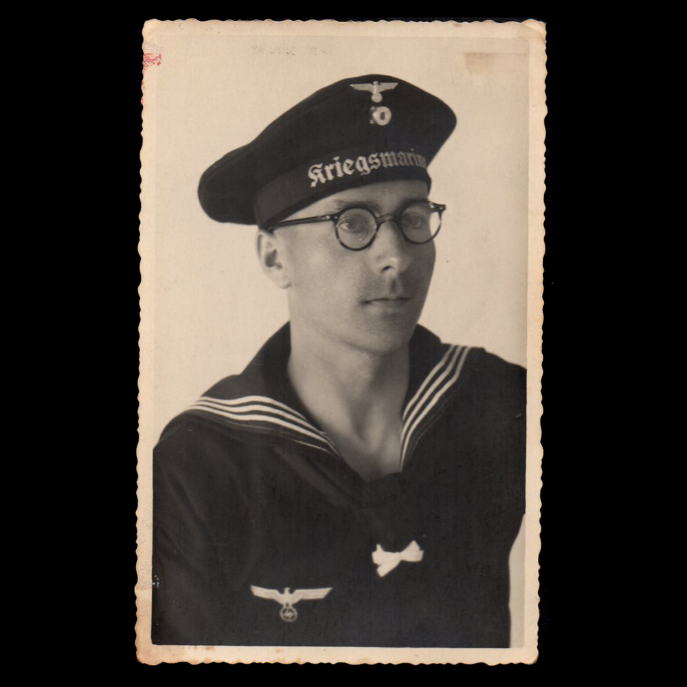 Kriegsmarine portret met bril
