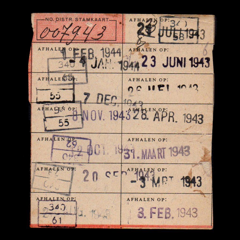 Stempelkaart 1943