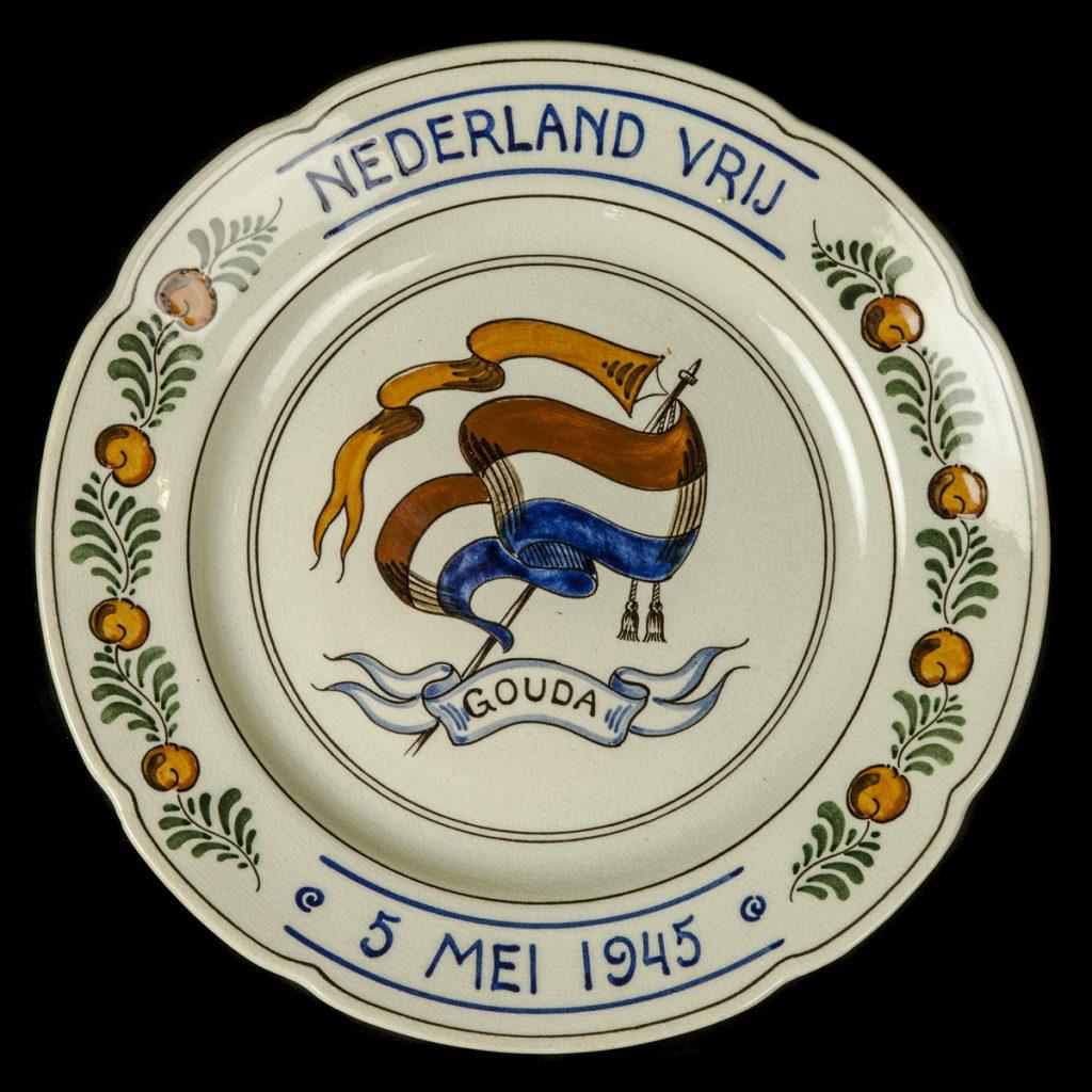 Nederland Vrij 5 mei 1945 Gouda