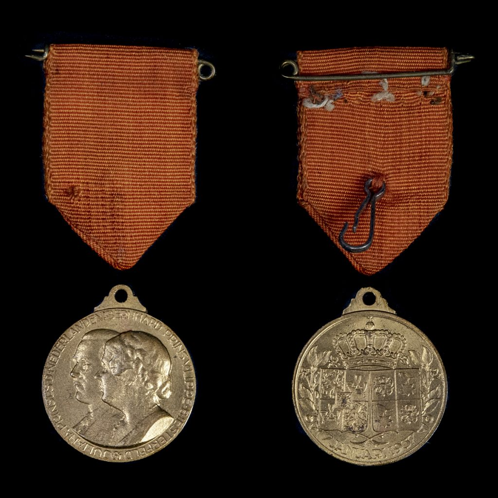 Medaille Prinses Juliana & Prins Bernhard 1937