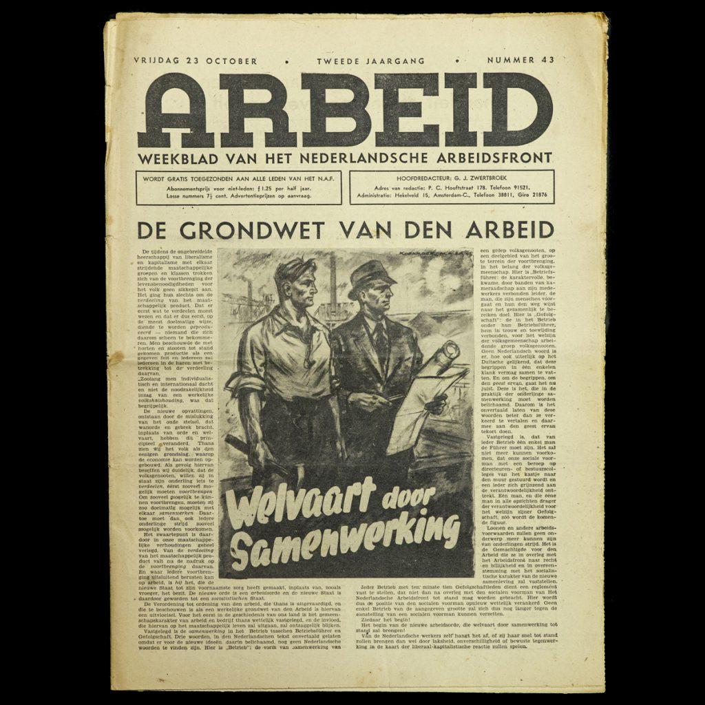 ARBEID Weekblad van het Arbeidsfront