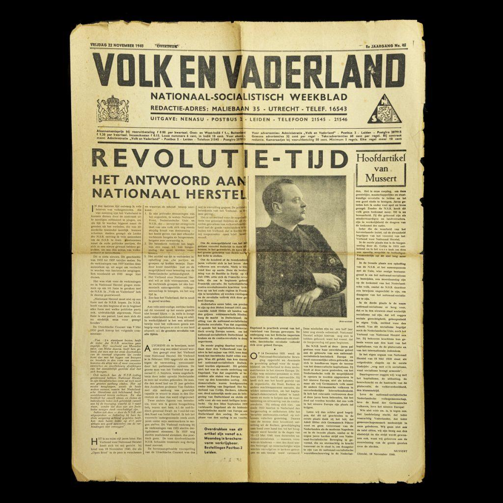 Volk en Vaderland 22 november 1940