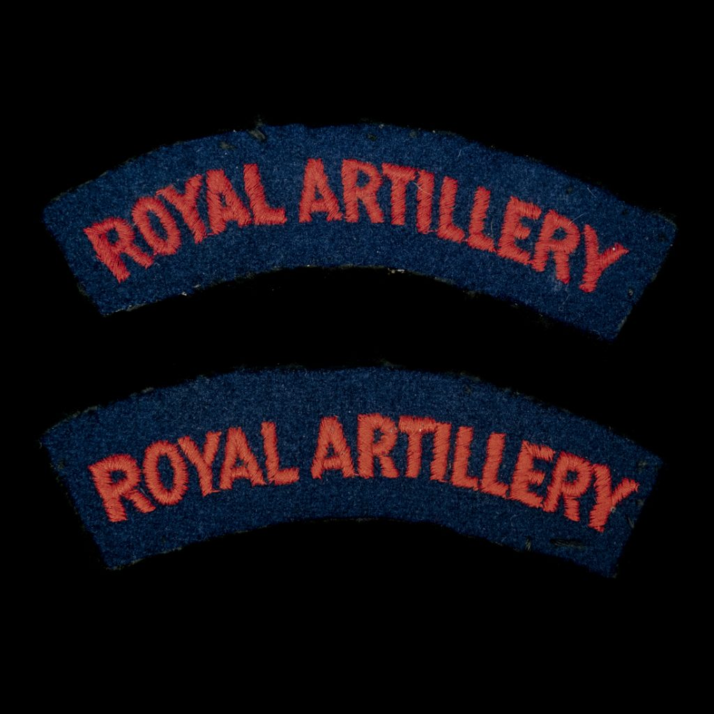 Britse Royal Artillery armemblemen