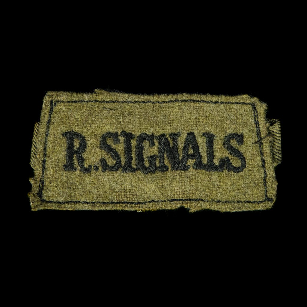 Britse R. Signals schouderembleem