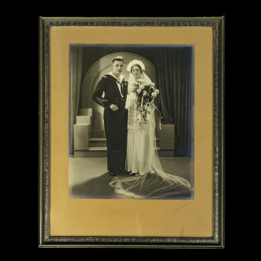 Huwelijksportret Nederlandse Marine