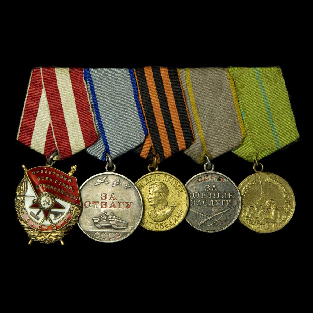 Russische Orde van de Rode Banier, Dapperheits, Overwinning op Duitsland, Krijgsverdienste, Verdediging van Leningrad