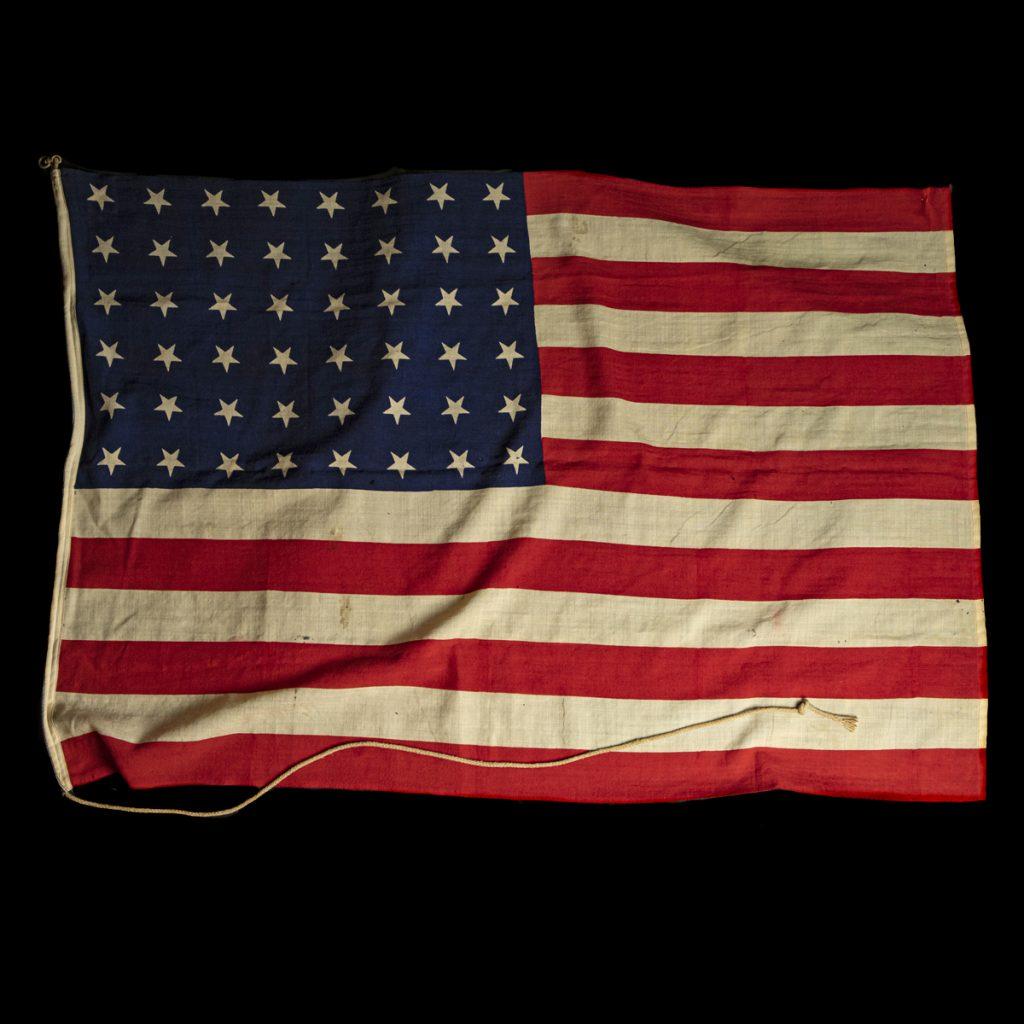 US vlag met 48 gedrukte sterren