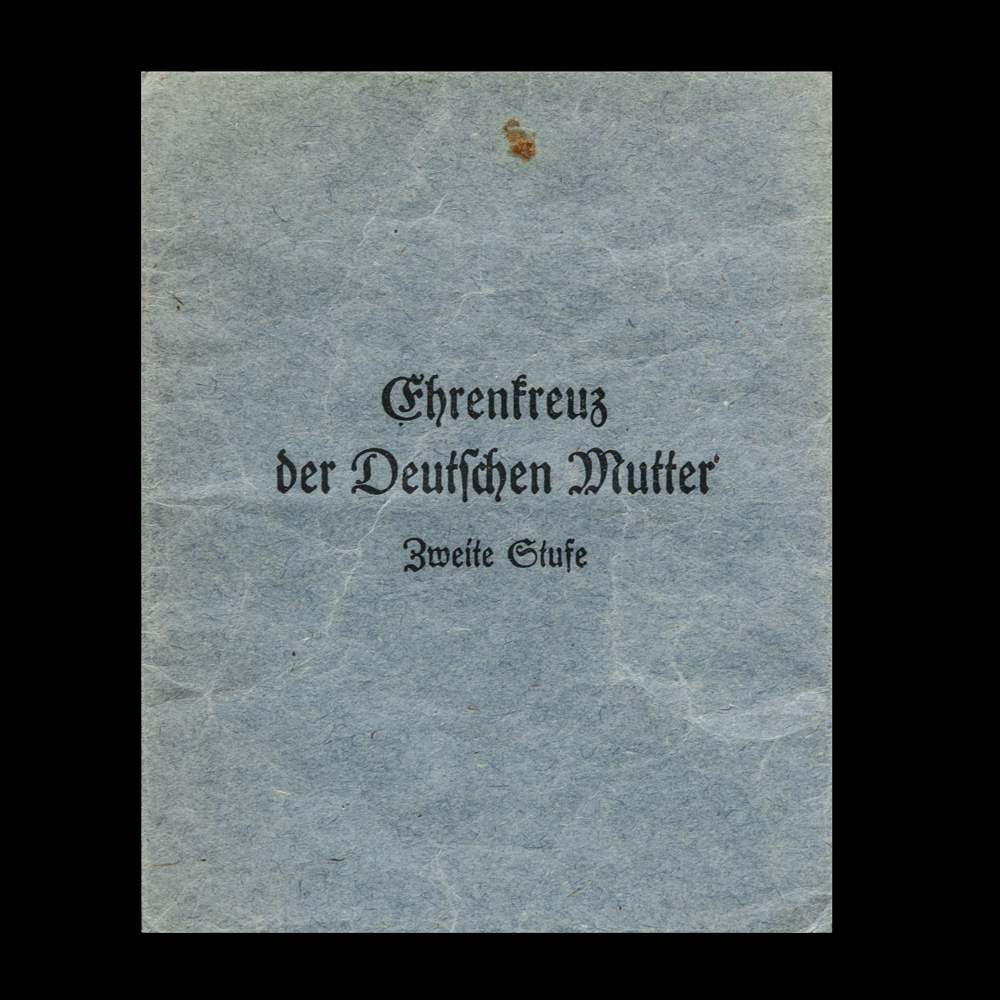 Ehrenkreuz der Deutschen Mutter medaillezakje