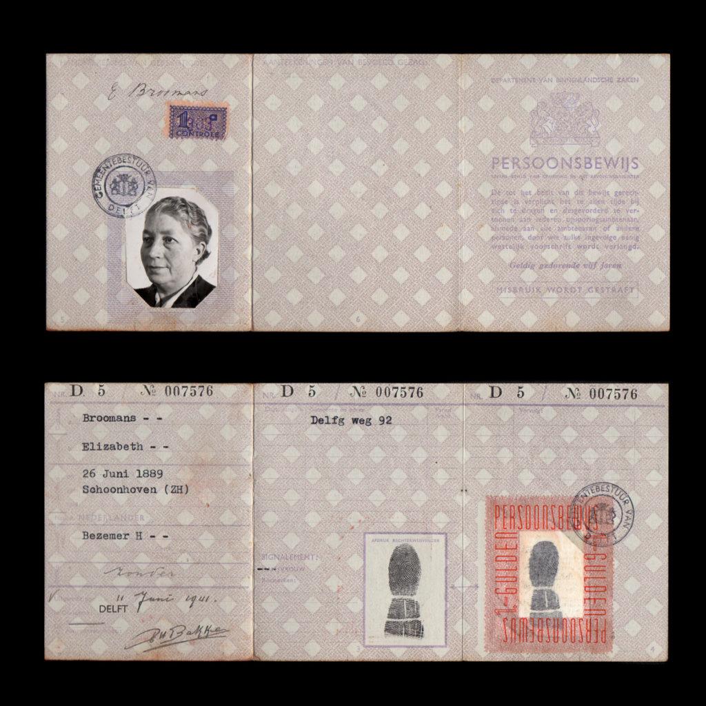 Persoonsbewijs E. Broomans Delft