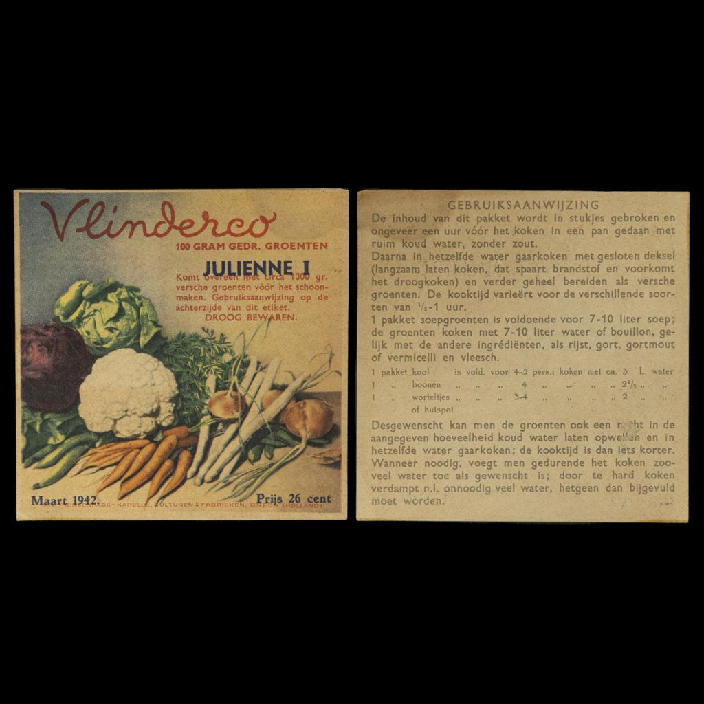 Vlinderco Julienne I 'soep' Maart 1942
