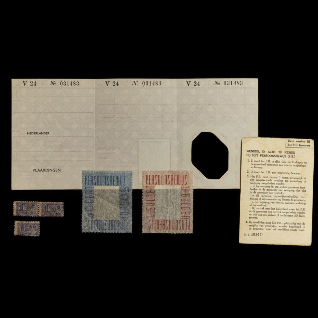 Blanco persoonsbewijs t.b.v. het Vlaardingse verzet