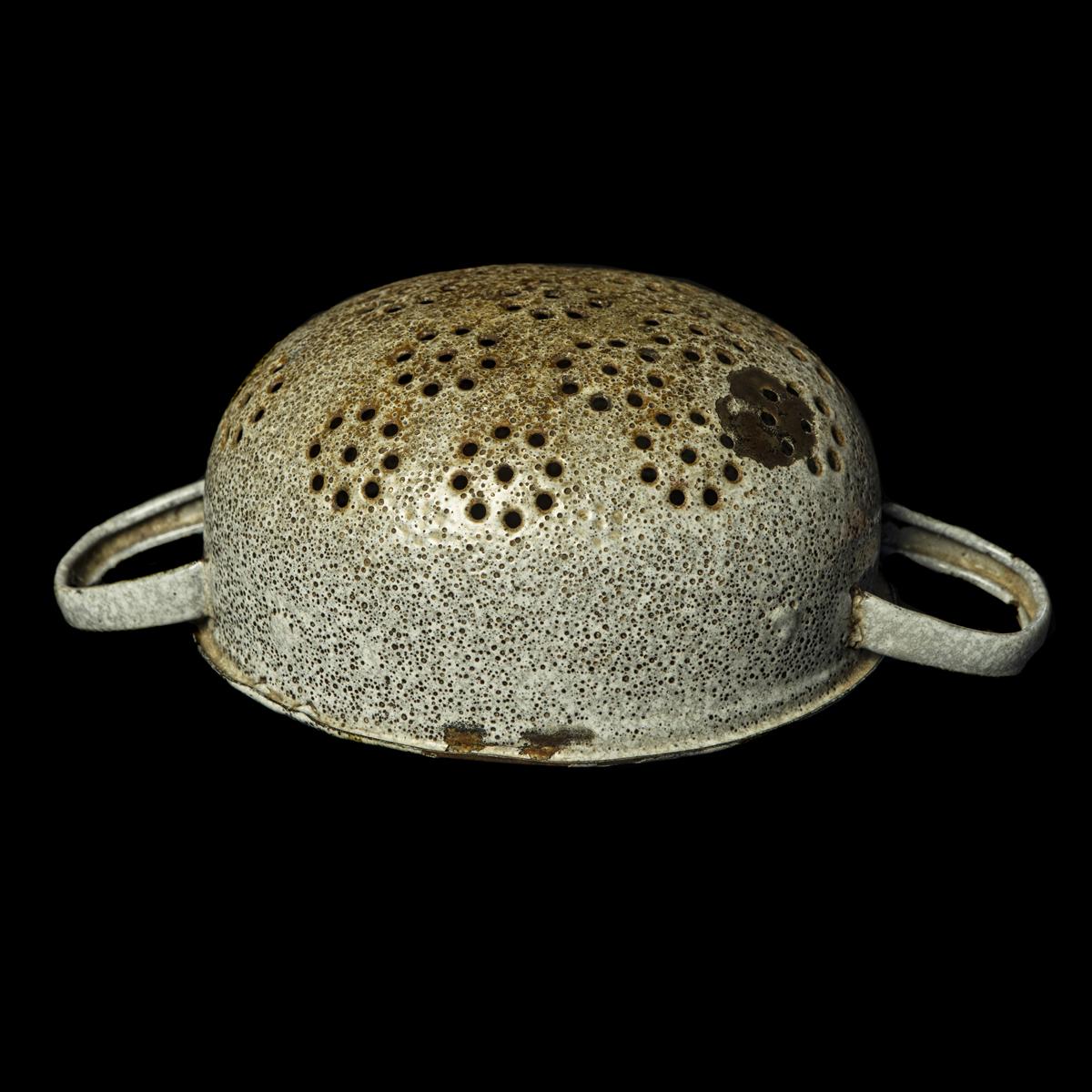 Vergiet gemaakt van Duitse helm