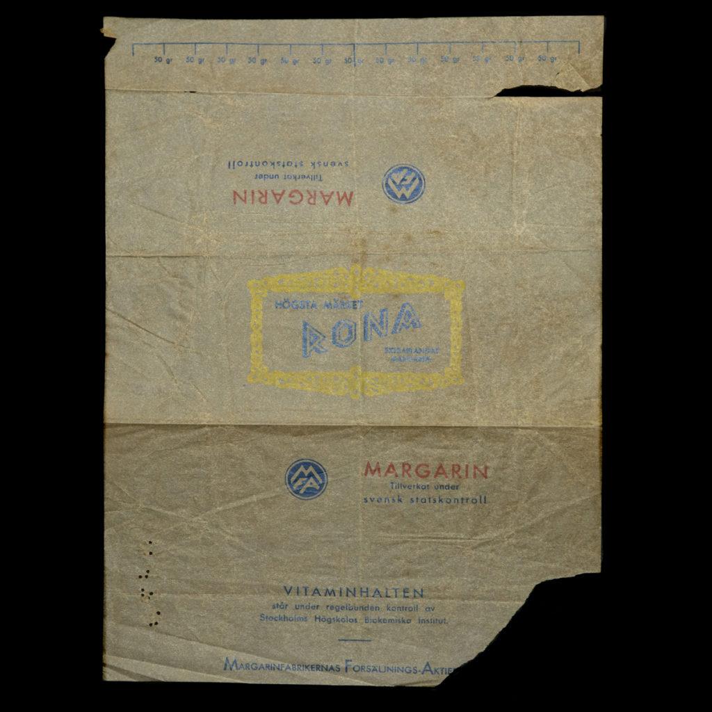 Wikkel van Zweedse Margarine 1945