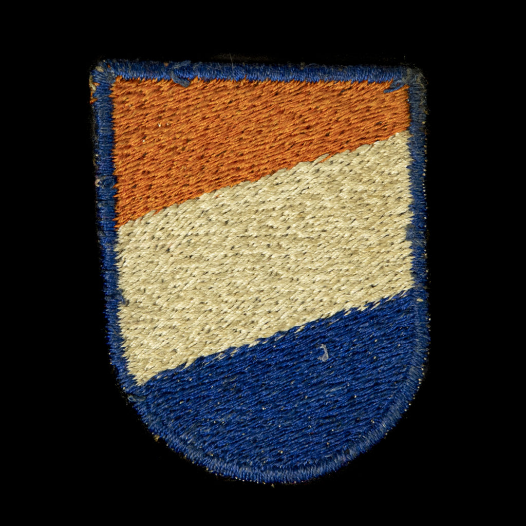 Waffen SS Nederlandsche Vrijwilligers Armschildje 'cut off' - Duitse aanmaak
