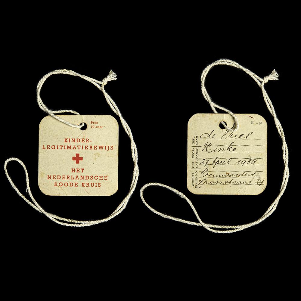 Kinder Legitimatiebewijs Het Nederlandsche Roode Kruis