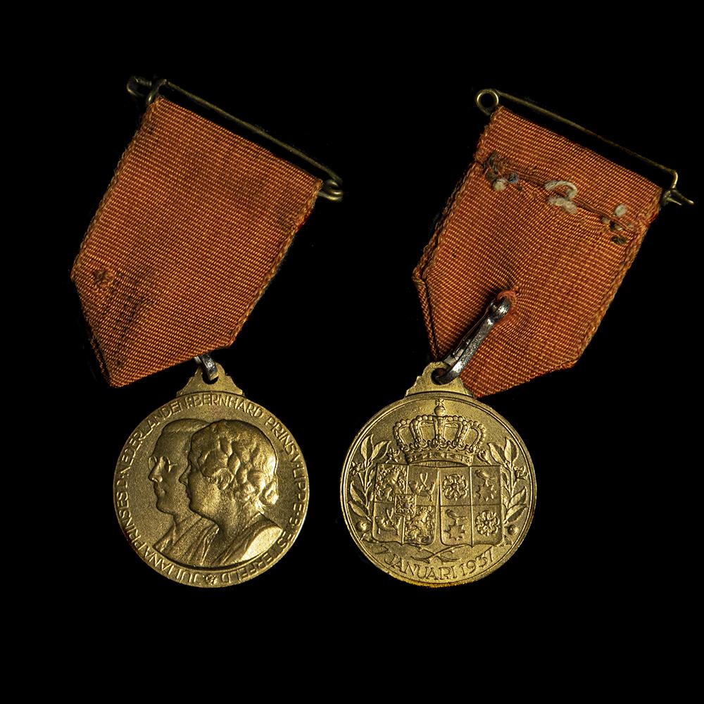 Medaille Huwelijk Prinses Juliana & Prins Bernhard