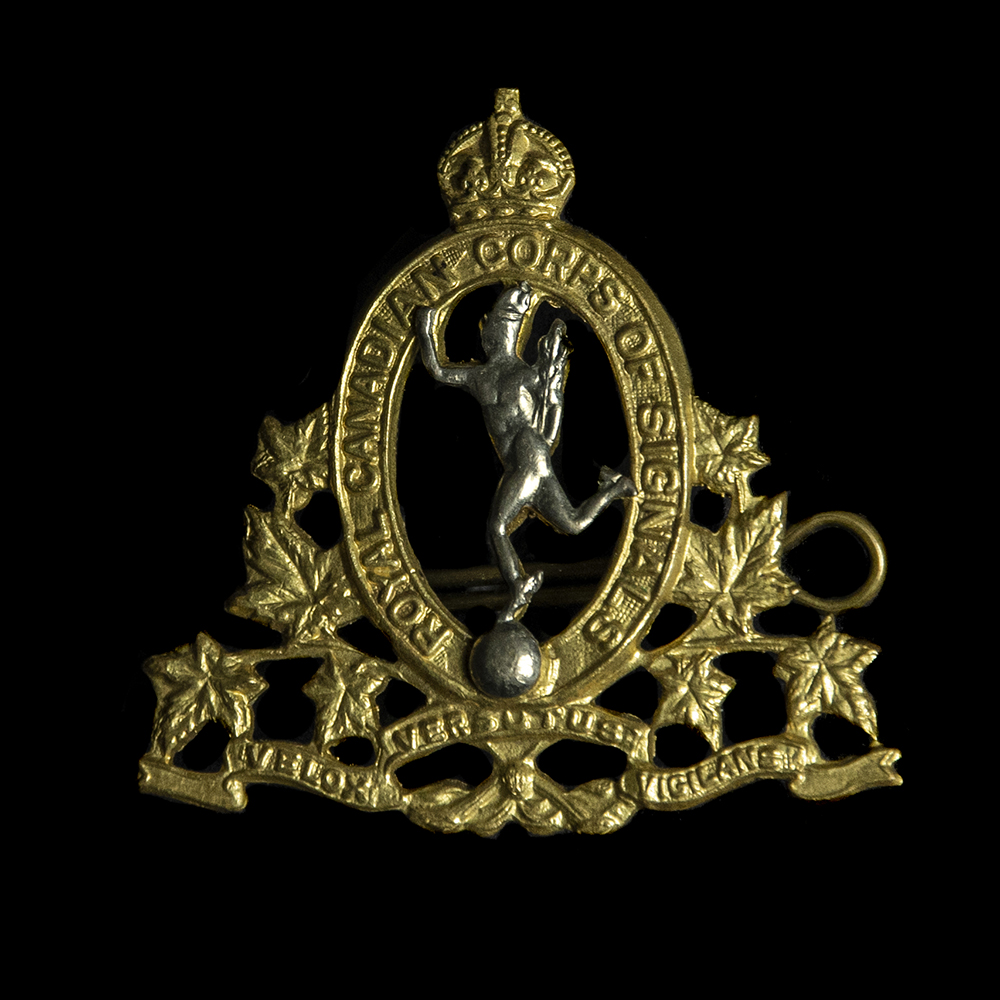 Royal Canadian Corps of Signals capbadge