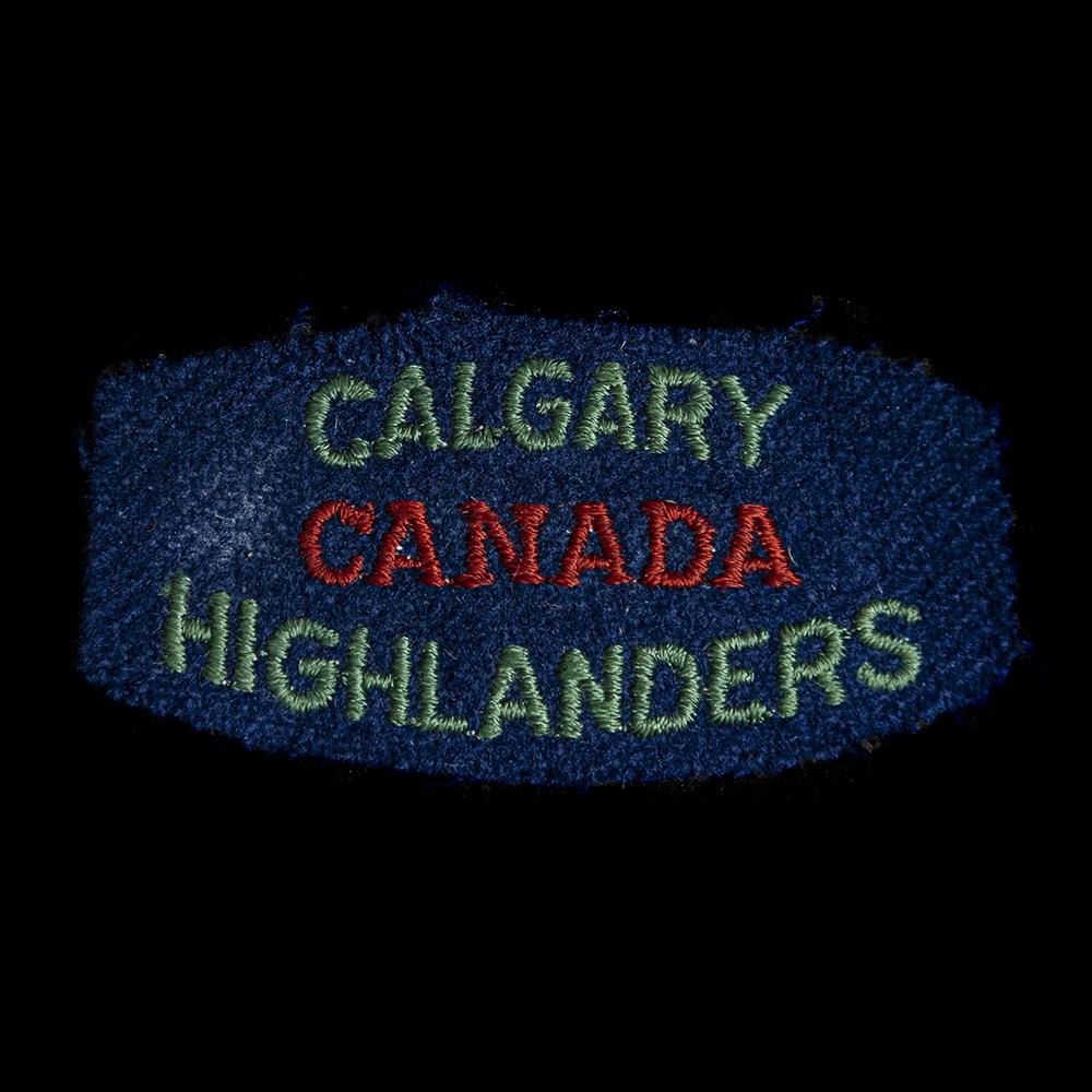 Calgary Canada Highlanders armembleem
