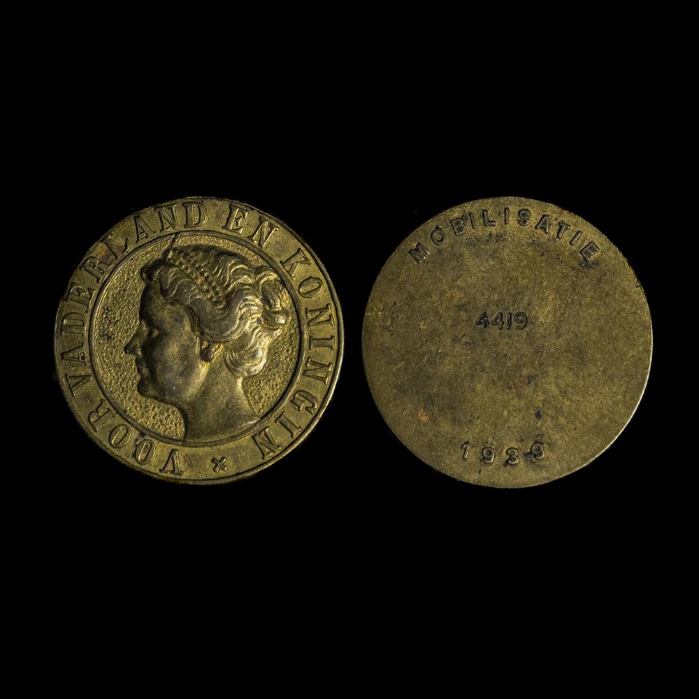 Voor Vaderland en Koningin Mobilisatie penning 4419 1939