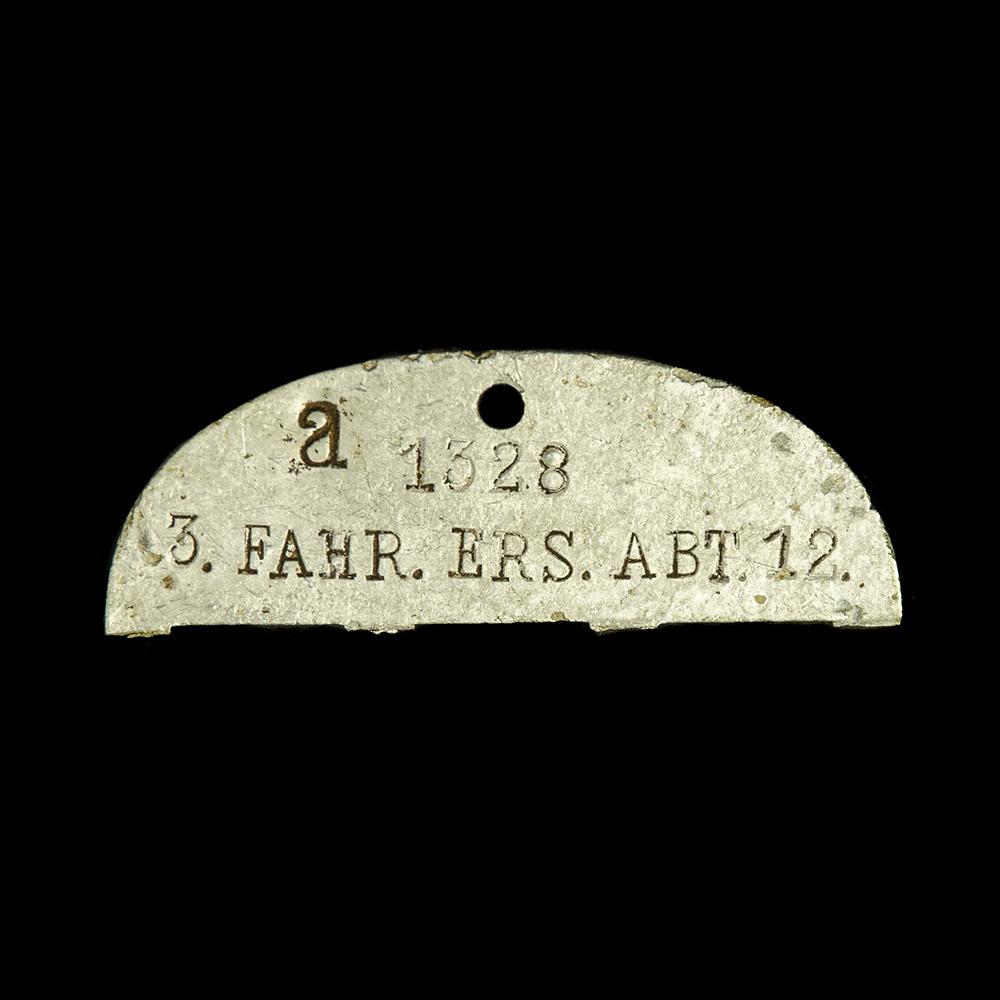 Erkennungsmarke a 1328 3. FAHR. ERS. ABT. 12.