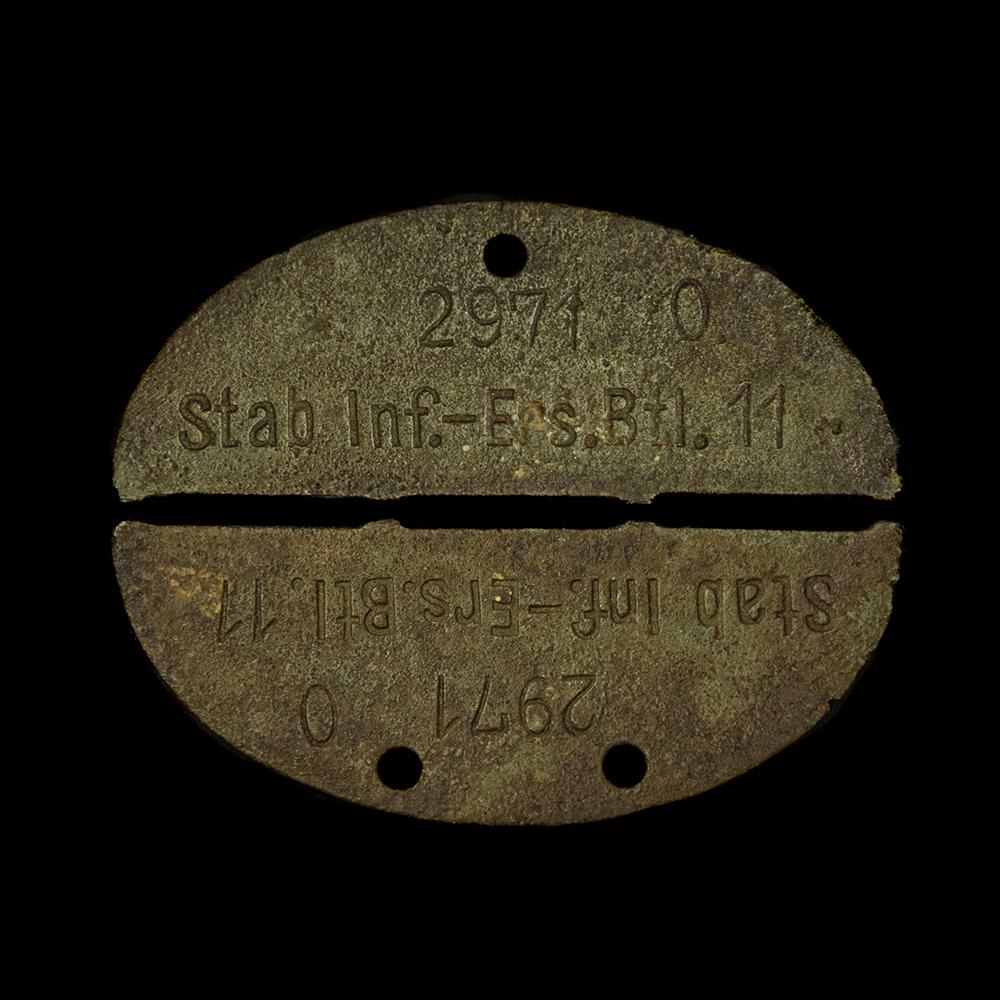 Erkennungsmarke 2971 O. Stab Inf.-Ers.Btl. 11