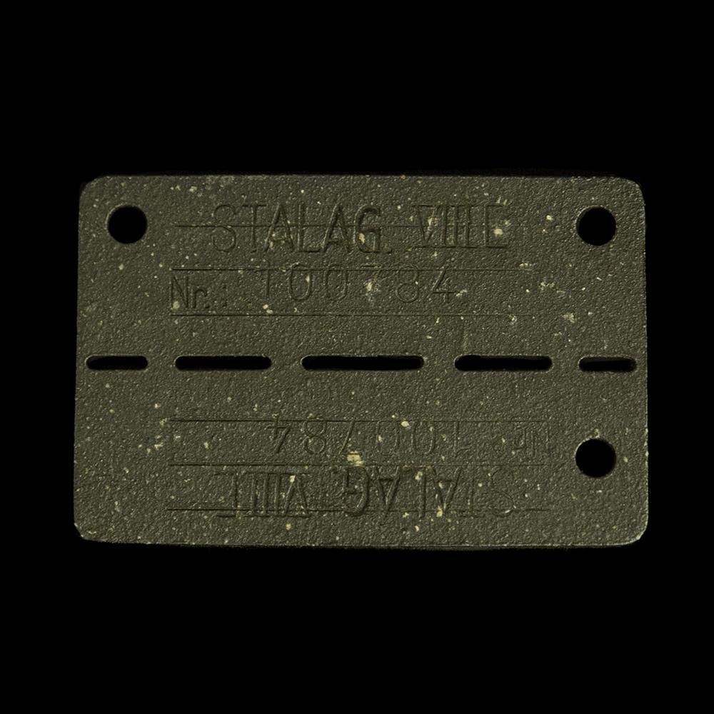 STALAG VIIIE Nr. 100784 gevangenplaatje Neuhammer, Silesia (Stalag 308)