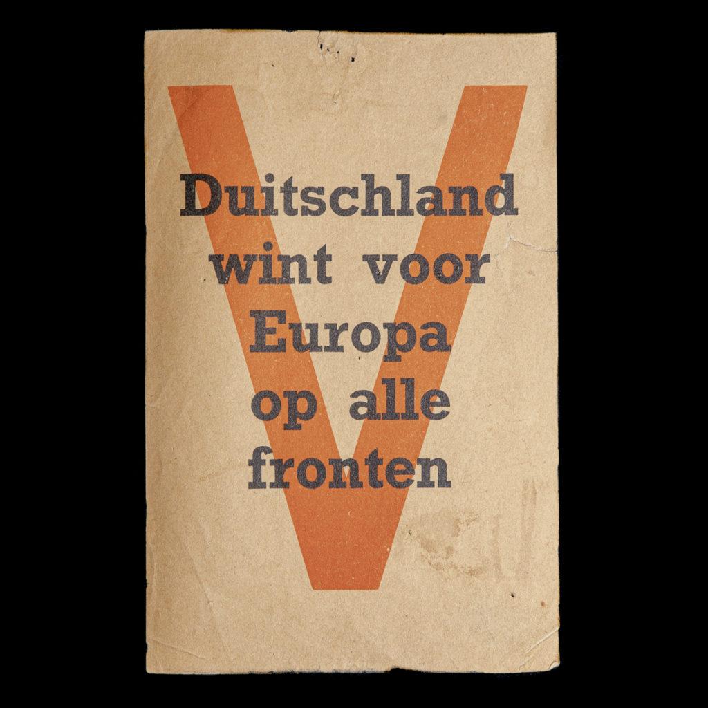Duitschland Wint Voor Europa Op Alle Fronten Pamflet