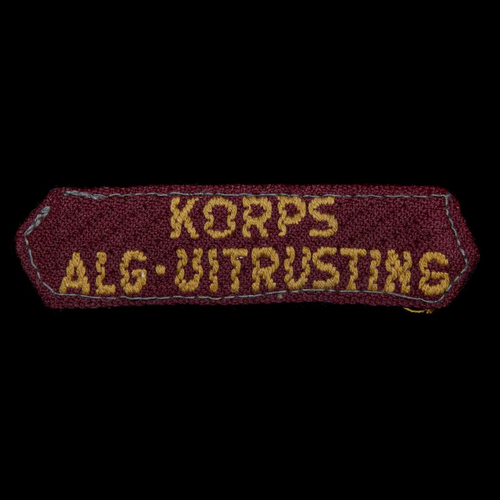 Korps Alg. Uitrusting Brabants weefsel 1945-1946