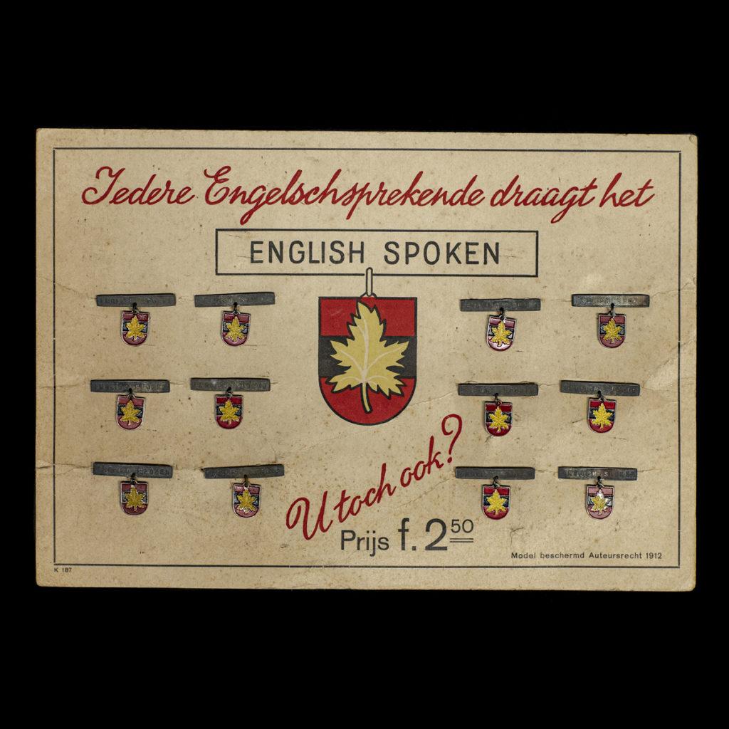 Iedere Engelschsprekende draagt het – ENGLISH SPOKEN