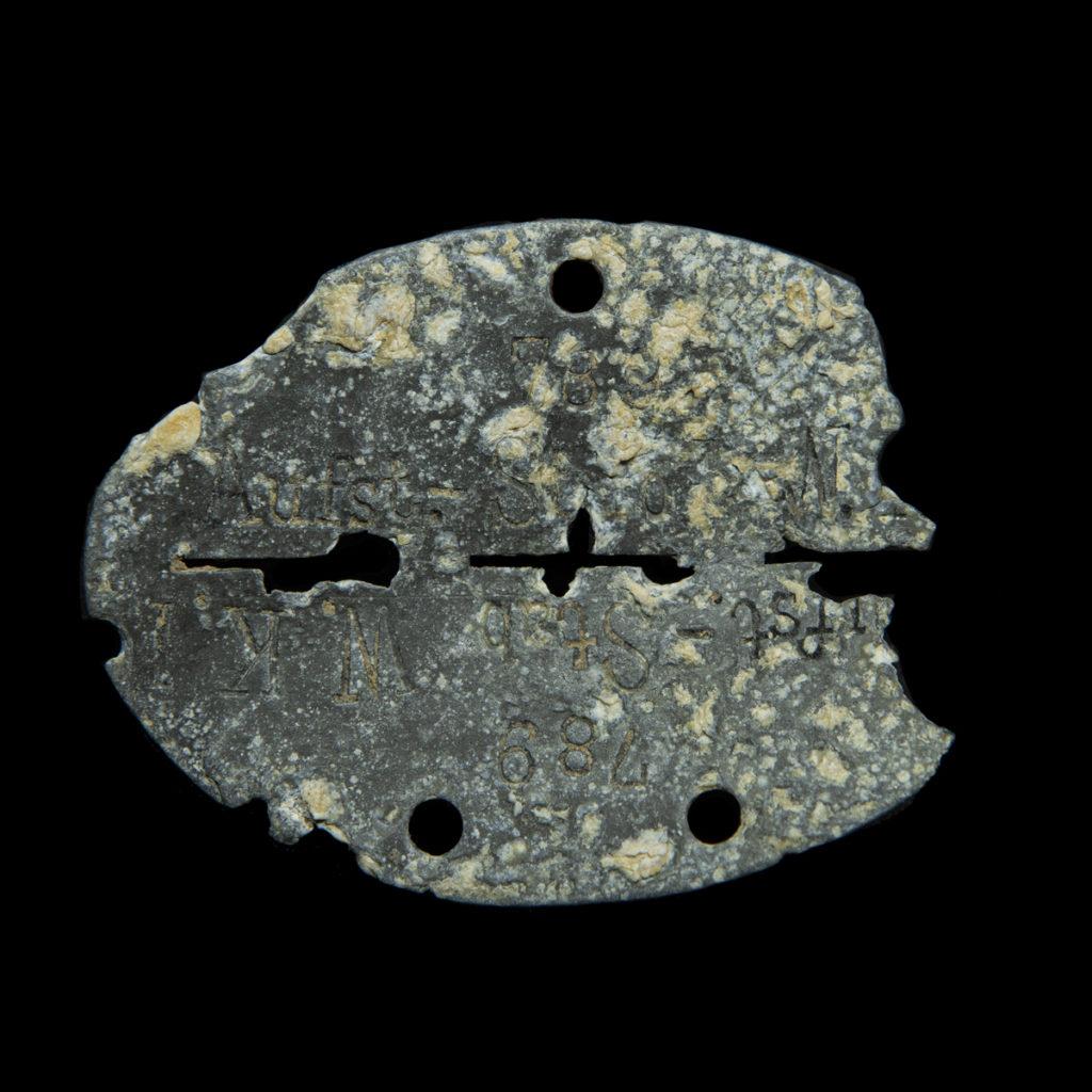 Erkennungsmarke 789 Aufst. Stab. W.K. 1. Wehrkreis I (Königsberg)