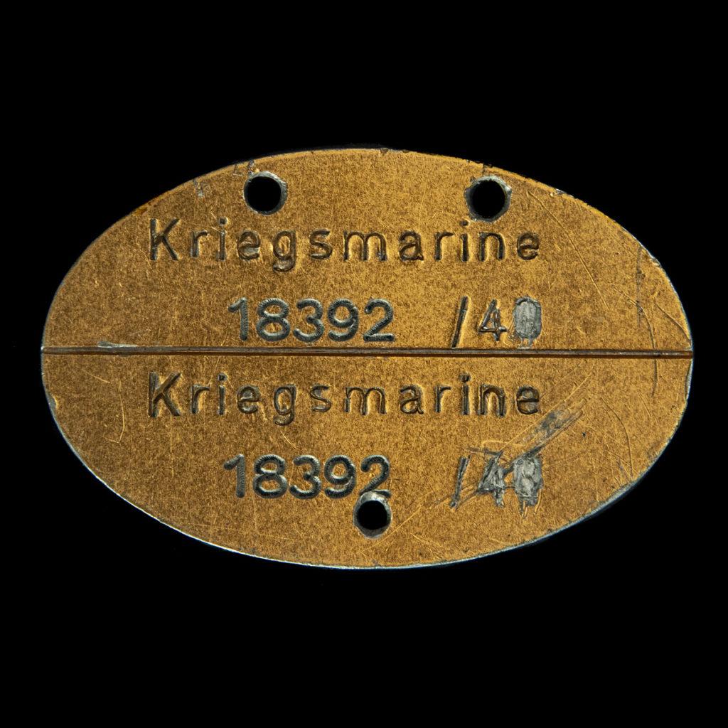 Kriegsmarine Erkennungsmarke 18392 /40