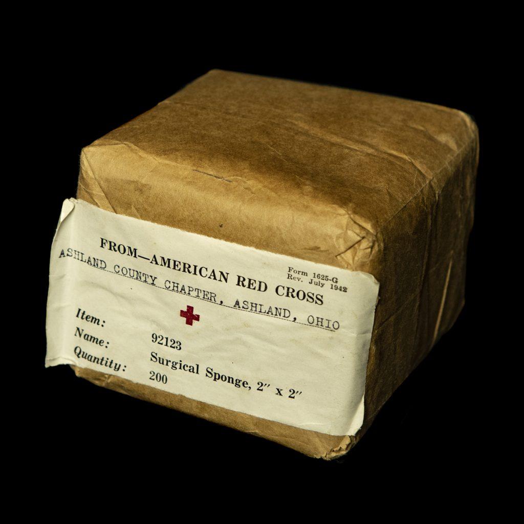 US chirurgisch sponsjes 1942