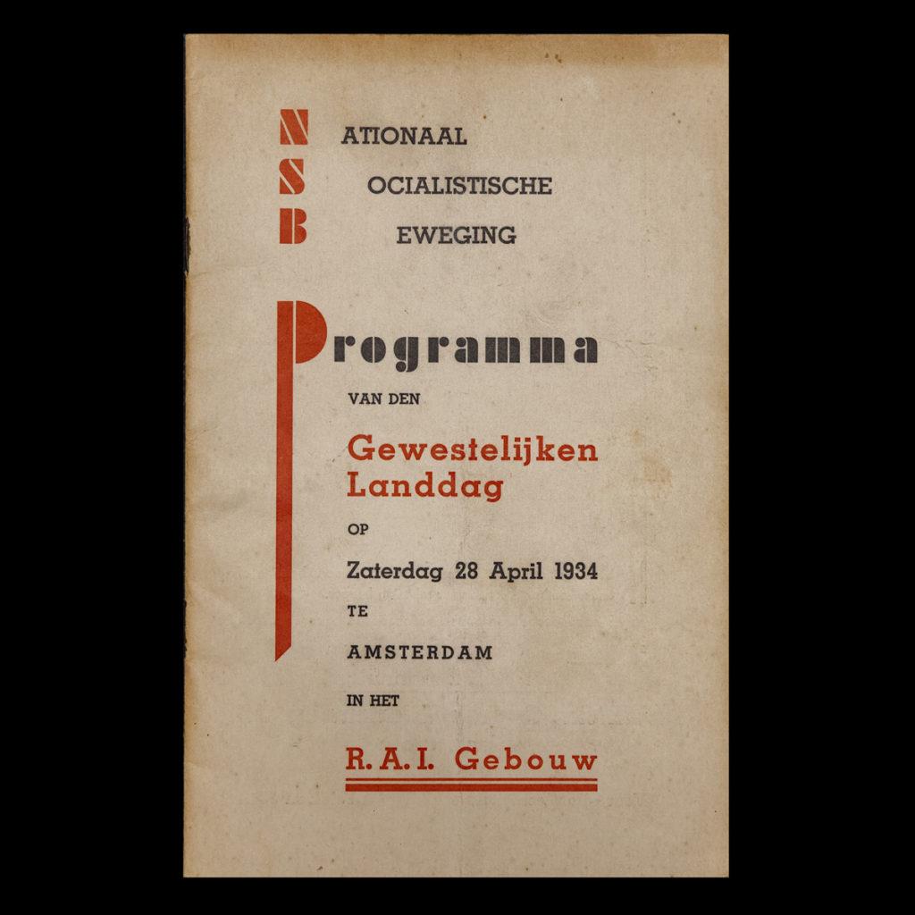 Programma van den Gewestelijken Landdag op Zaterdag 28 April 1934 te Amsterdam