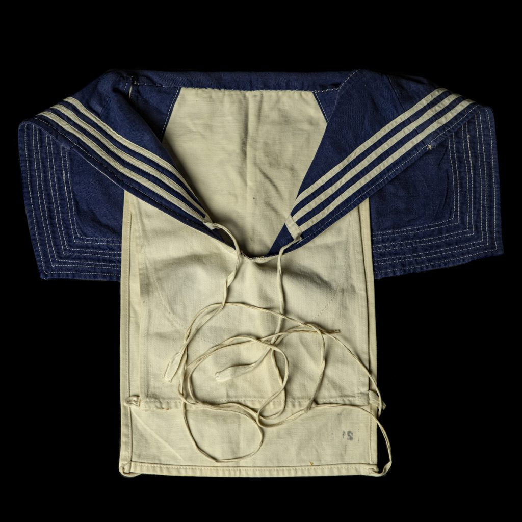 Kriegsmarine em/nco 'Dickie' kraag, achtergelaten in Vlaardingen