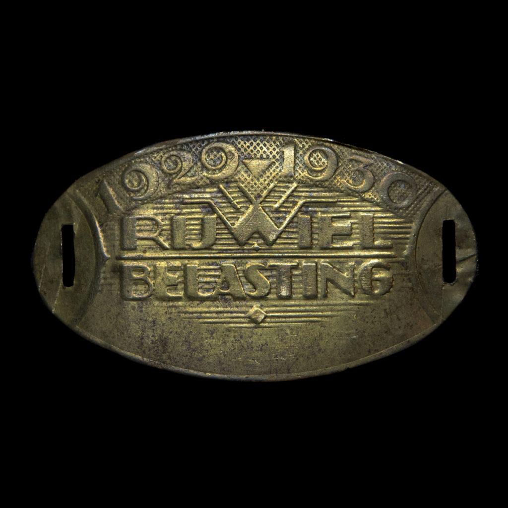 Rijwiel Belastingplaatje 1929-1930