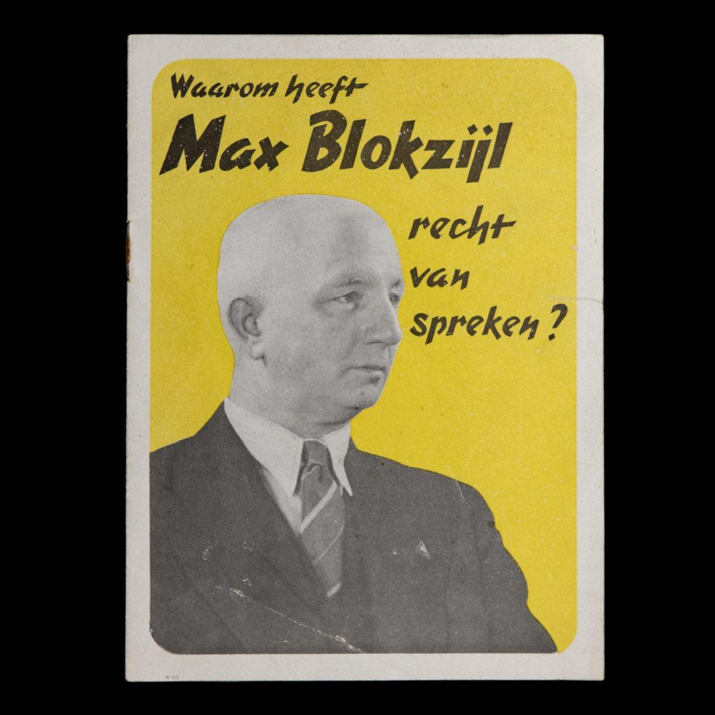 Brochure Waarom heeft Max Blokzijl recht van spreken?