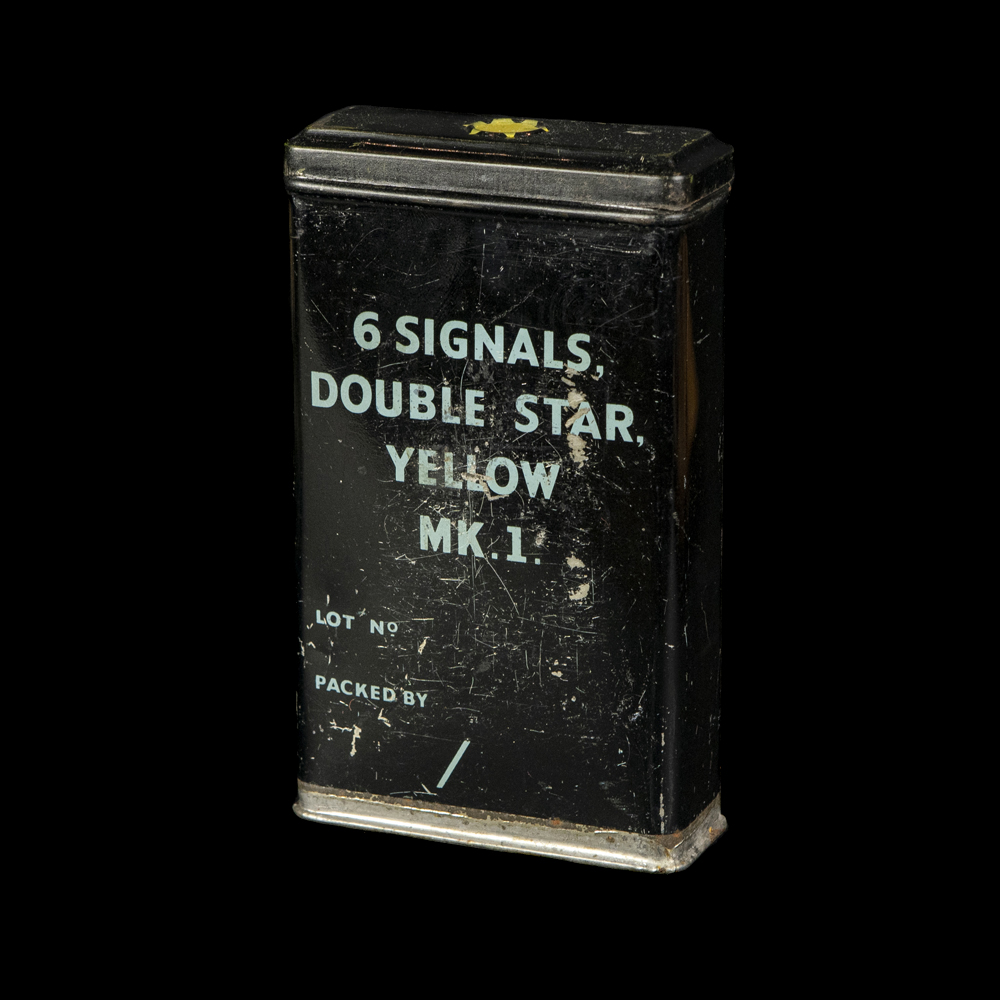 Brits 6 Signals Double Star. Yellow MK.1. blikje