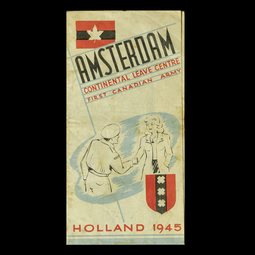 Amsterdam Continental Leave Centre First Canadian Army Holland 1945 –  Plattegrond/Gids