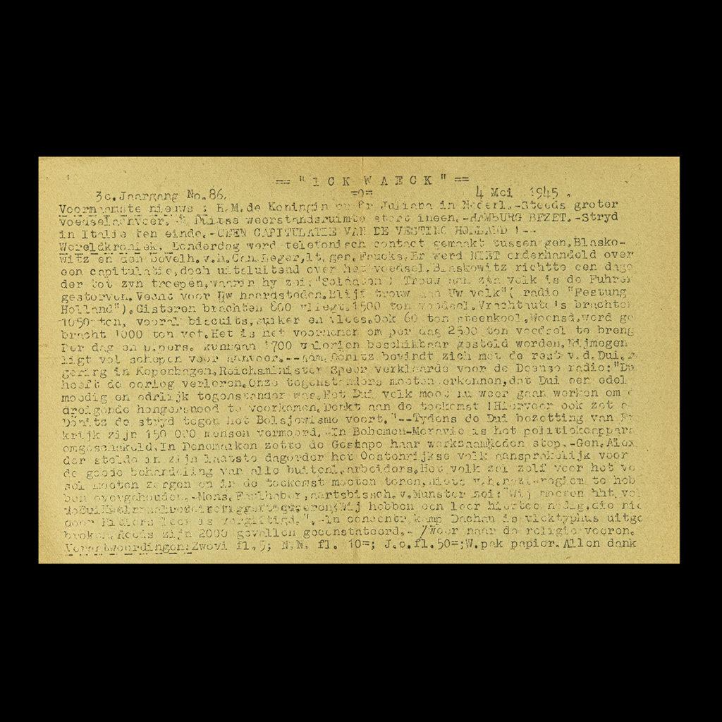 ICK WAECK 4 Mei 1945
