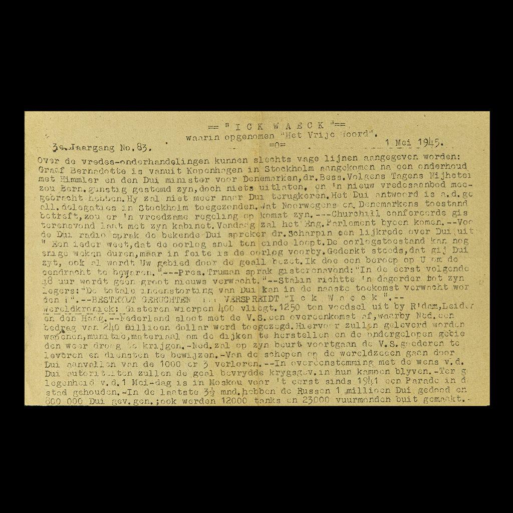 ICK WAECK 1 Mei 1945