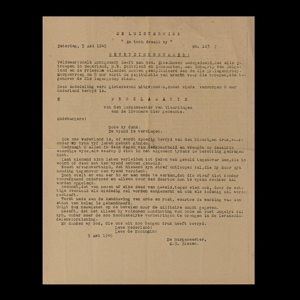 De Luistervink 5 Mei 1945