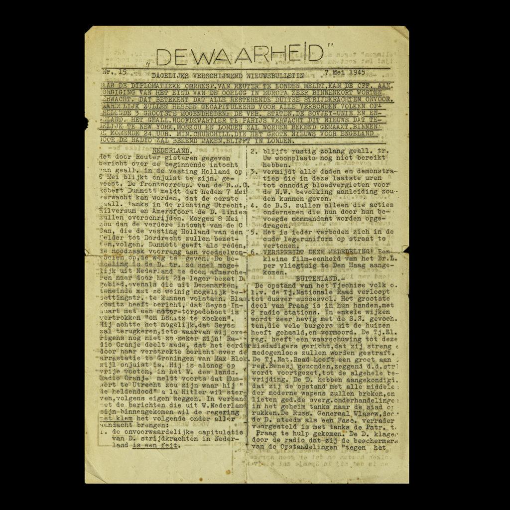 De Waarheid 7 Mei 1945