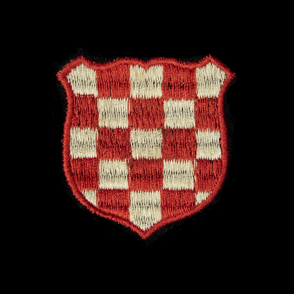Waffen SS Kroatisch Vrijwilligers Armschildje 'cut off'