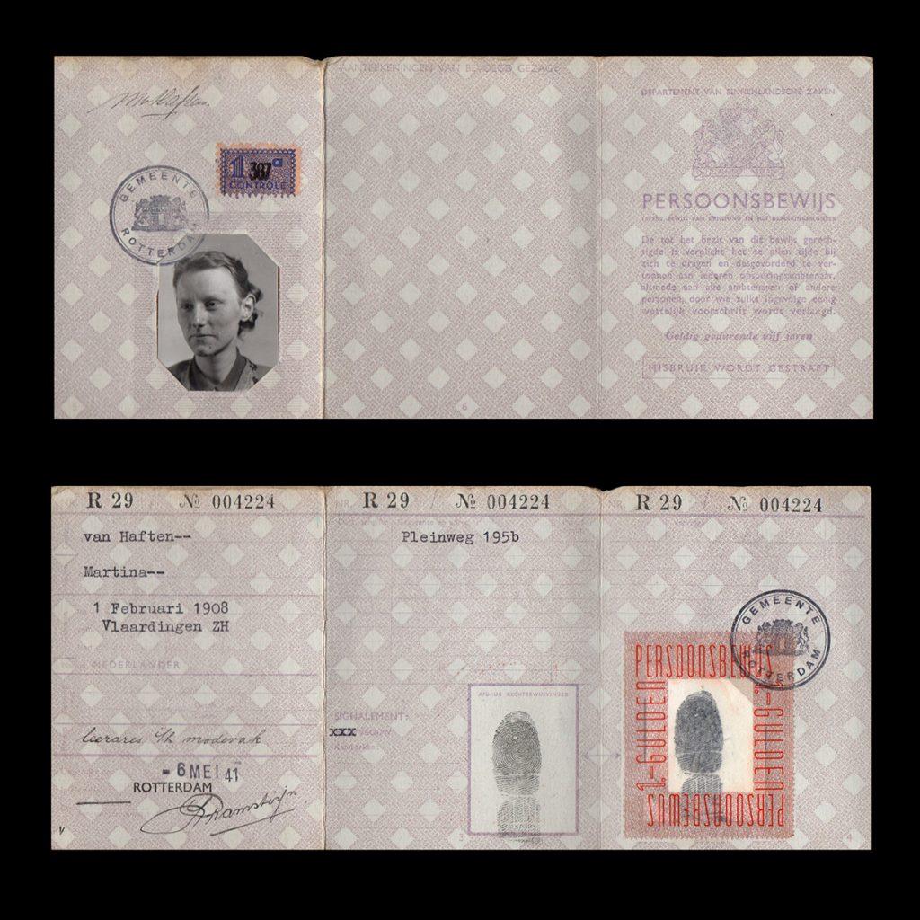 Persoonsbewijs M. van Haften Rotterdam