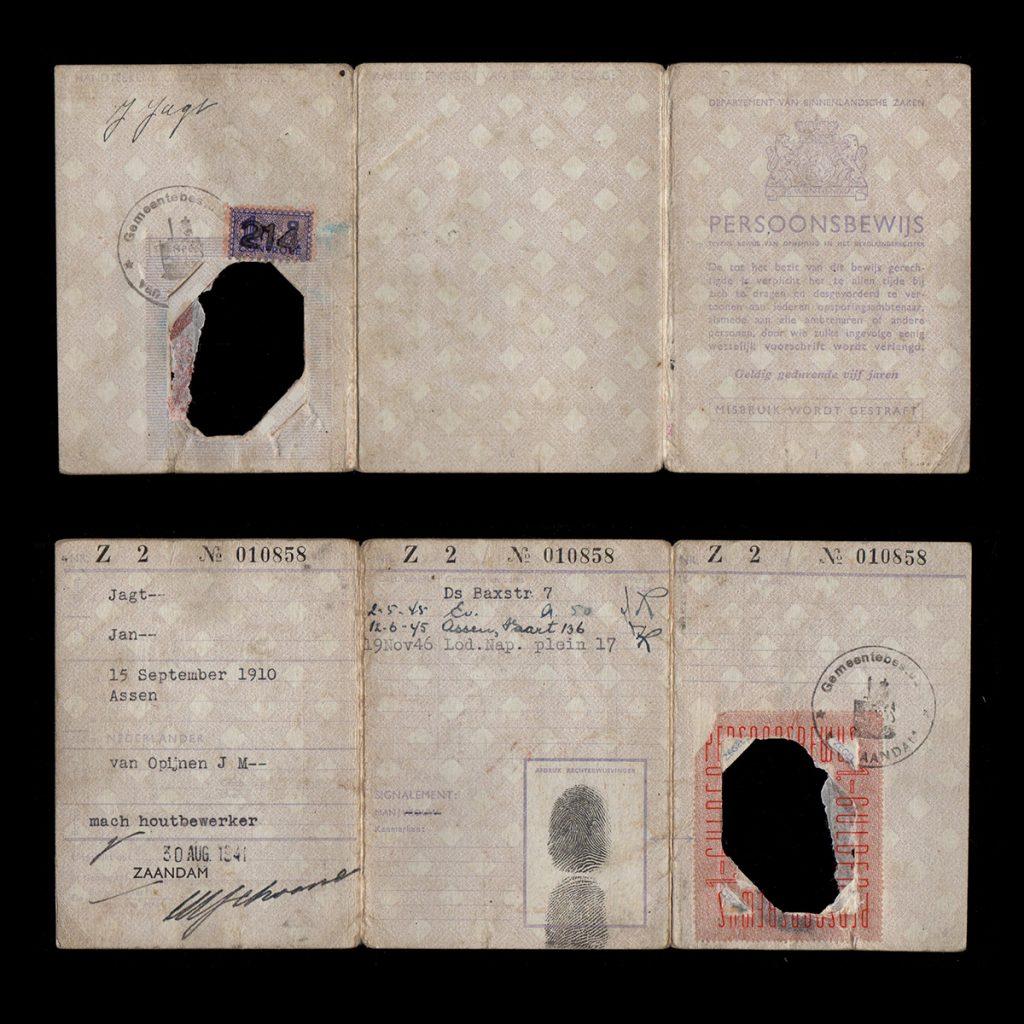 Persoonsbewijs J. Jagt Zaandam