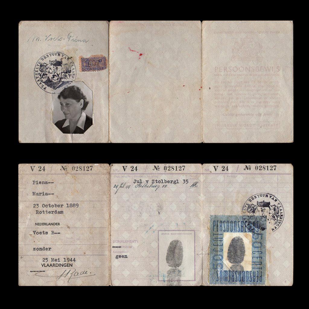Persoonsbewijs M. Piena Vlaardingen