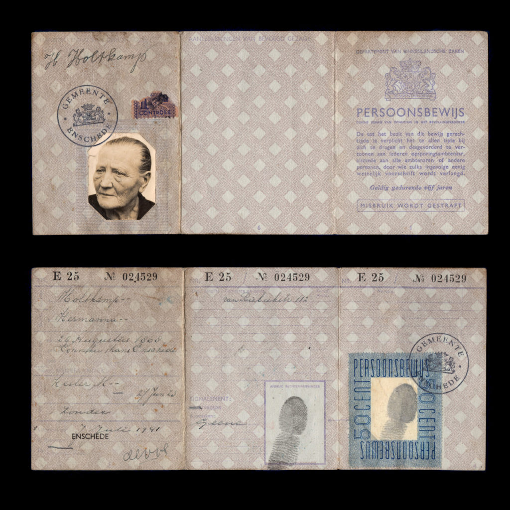 Persoonsbewijs H. Holtkamp Enschede